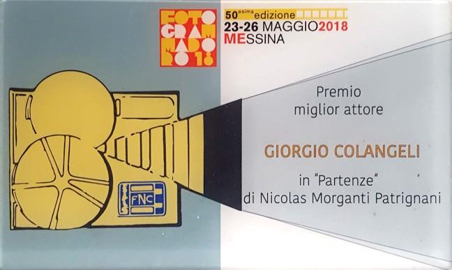Targa - Premio Miglior Attore - Giorgio Colangeli - Partenze