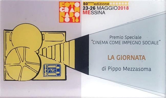 Targa - Premio Speciale - Cinema come Impegno Sociale - La Giornata